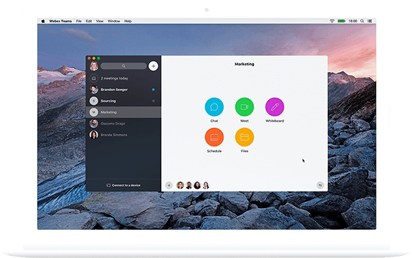 Bild: Webex Teams App