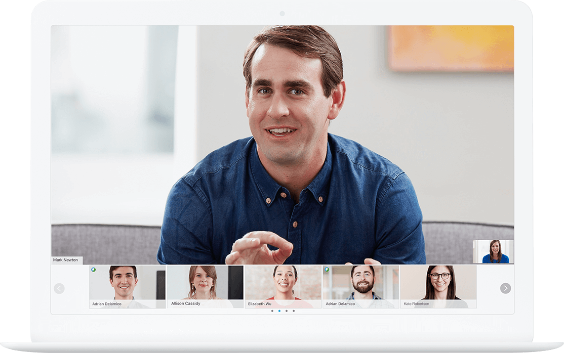 Video conferencing is simple now