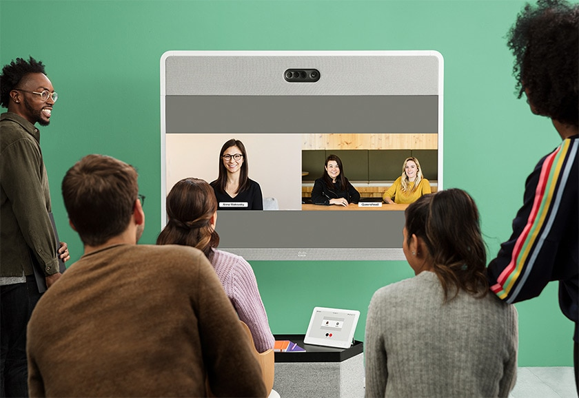 Agrupe reuniões com a tela de vídeo do Cisco Webex Board