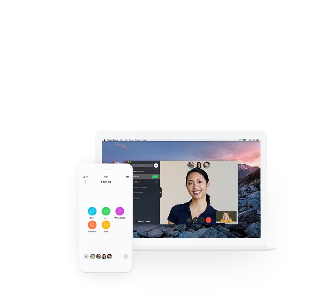 Cisco Webex Teams App on any device