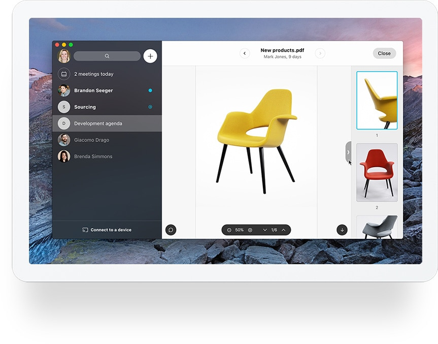 Share files with Cisco Webex Teams App on your devices