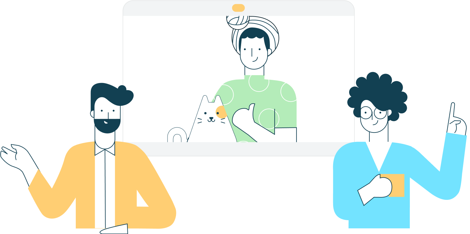 Illustration of virtual assistant