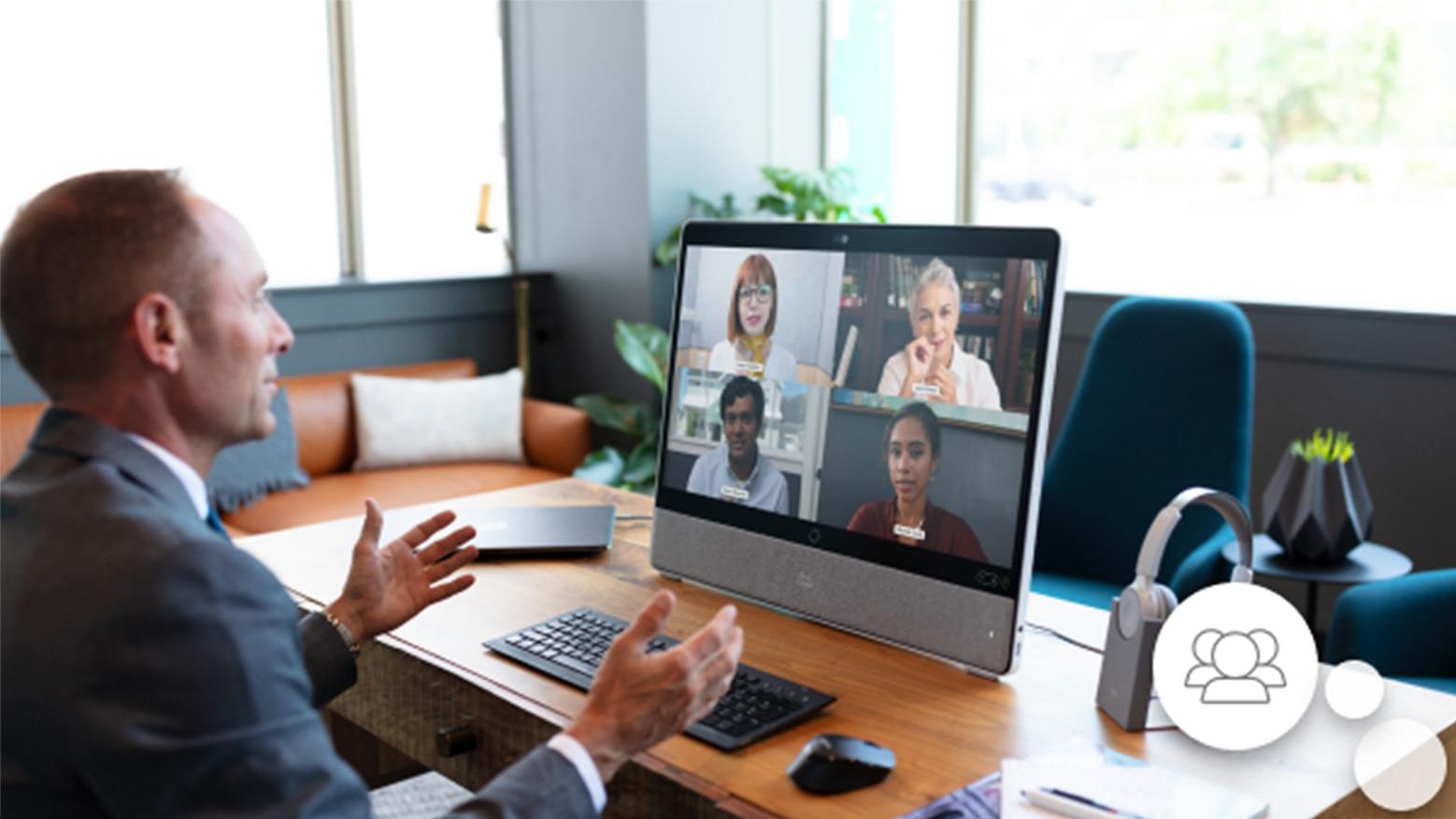 Representação visual de pessoas conectadas