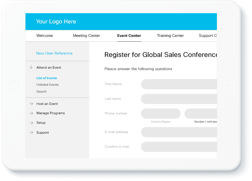 Customize your Webex Event