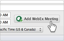 Add WebEx meeting with productivity tools