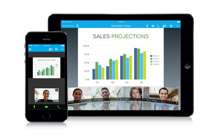 Cisco WebEx Meeting Center video conferencing—meet and create together