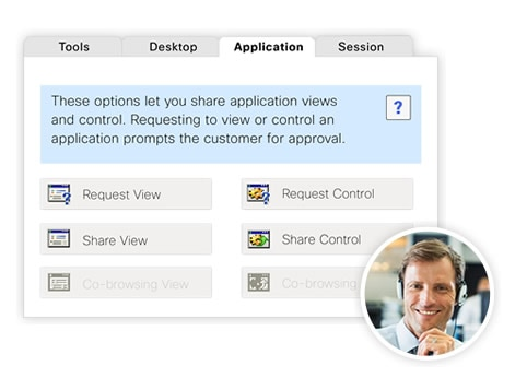 WebEx Support Center User Interface
